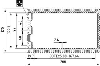 Electronic-Box Profile 8 200x120, black