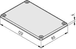 Kanal-Abdeckkappe 120x80, schwarz