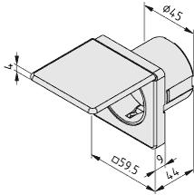 Einbausteckdose mit Deckel