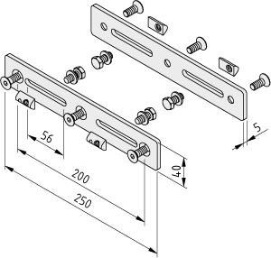 Stufenprofil-Laschensatz 8 240