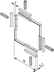 Spannsatz Türprofil X 8 - XMS