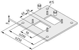 Bodenbefestigung Installationssäulenprofil
