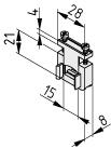 Zugentlastung Einbaudose K76, grau