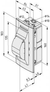 Einbaueinheit M45 2TE mit Tragschiene