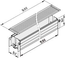 Kabelwanne E 1800-160x160