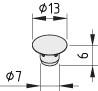 Abdeckkappe 8 D7, grau ähnlich RAL 7042