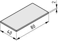 Abdeckkappe X 8 80x40, grau ähnlich RAL 7042