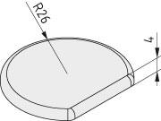 Abdeckkappe 8 R26-270°, schwarz