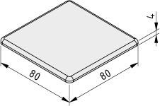 Abdeckkappe 8 80x80, grau ähnlich RAL 7042