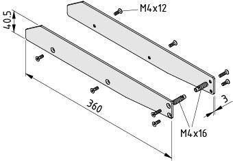 Regalboden-Abdeckkappensatz 8 320 mit Bordkante