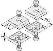 Abdeckkappensatz Türprofil X 8 40x40 - XMS