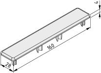 Abdeckkappe LRF 8 D14 160x28, schwarz