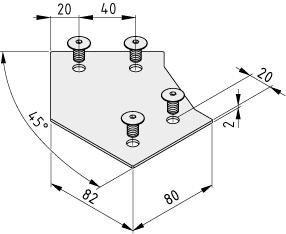Abdeckkappe X 8 80-45° Al