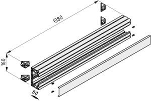 Installation Profile 160x80 1500