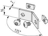 Reling-Verbindungssatz 5-135°