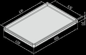 Tablett 6x4 ESD