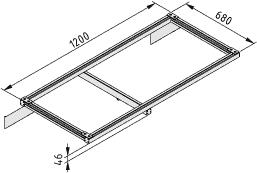 Kreuzschlitten-Ausleger 1200