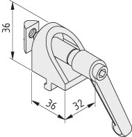 Angle Clamp Bracket 8 with Clamp Lever