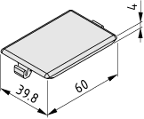 Automatic Angle Bracket Cap 8 40x40, grey similar to RAL 7042