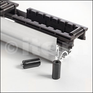 Roller D11-23 ESD, black similar to RAL 9005