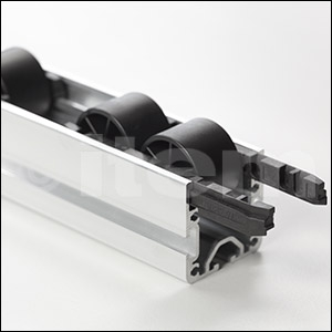 Roller Track 100 D4-20/33 ESD, black similar to RAL 9005