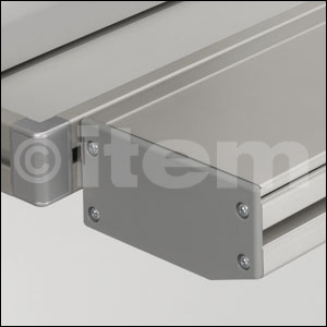 Storage Profile 8 120x60 Assembly Set, grey similar to RAL 7042