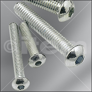 Button-Head Screw M4x22, bright zinc-plated