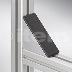 Winkel-Abdeckkappe 6 60x60, schwarz