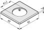 Schlitten-Abdeckkappe 8 80x80 D25, schwarz