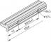 Kugelumlaufführung-Schienenlagerprofil PS 4-25, natur
