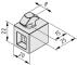 Multiblock X 8 PA 5/10 mm, grey