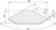 Tischplatte TRIGO 30-600 ESD HPL, grau ähnlich RAL 7035