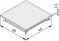 Conduit Cap 80x40 K, grey similar to RAL 7042